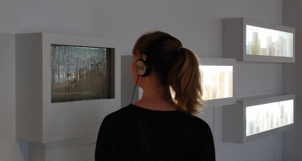 From Songbirds and Squirrels installation, British Glass Biennale 2017, Stourbridge, UK